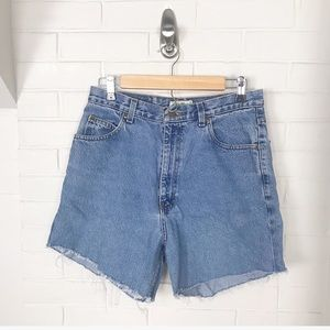 {Eddie Bauer} Distressed Denim Cut Off Shorts